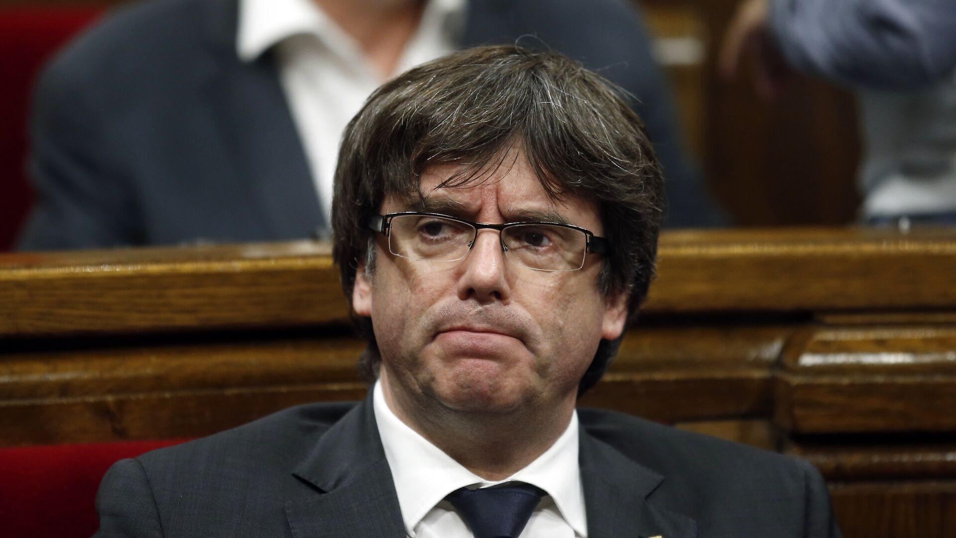 Carles Puigdemont, presidente del Gobierno catalán - Sputnik Mundo, 1920, 25.02.2021