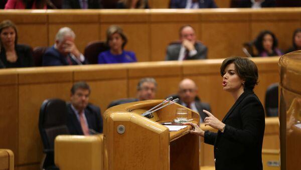 Soraya Sáenz de Santamaría, la vicepresidenta del Gobierno español - Sputnik Mundo