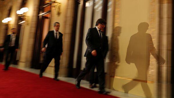 Carles Puigdemont, presidente de la Generalitat de Cataluña - Sputnik Mundo
