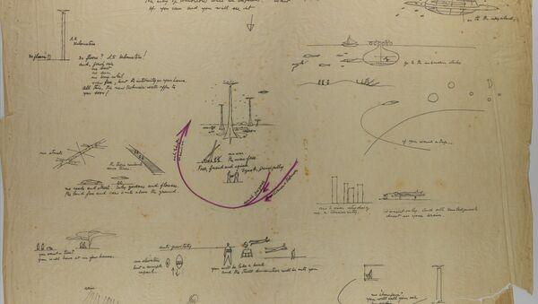 Croquis de la ciudad de mañana proyectada por Niemeyer en Rusia en 1963 - Sputnik Mundo