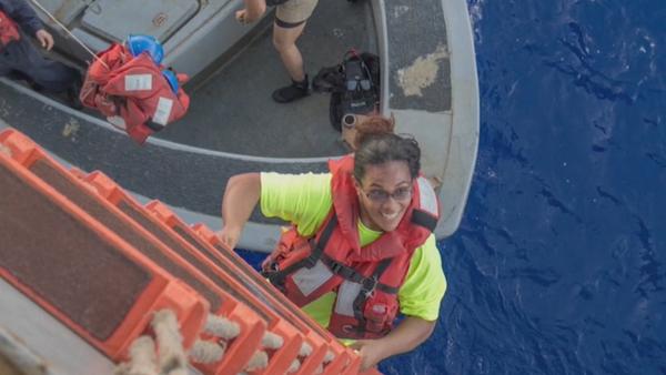 Jennifer Appel y Tasha Fuiaba, rescatada después de cinco meses a la deriva (archivo) - Sputnik Mundo