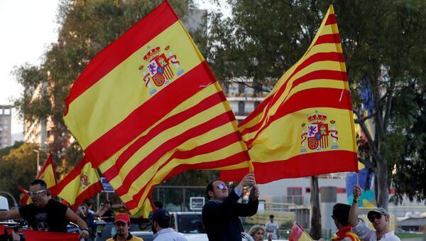Partidarios de la independencia de Cataluña en Barcelona (archivo) - Sputnik Mundo
