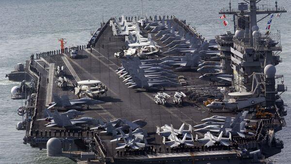 El portaviones estadounidense USS Nimitz (archivo) - Sputnik Mundo