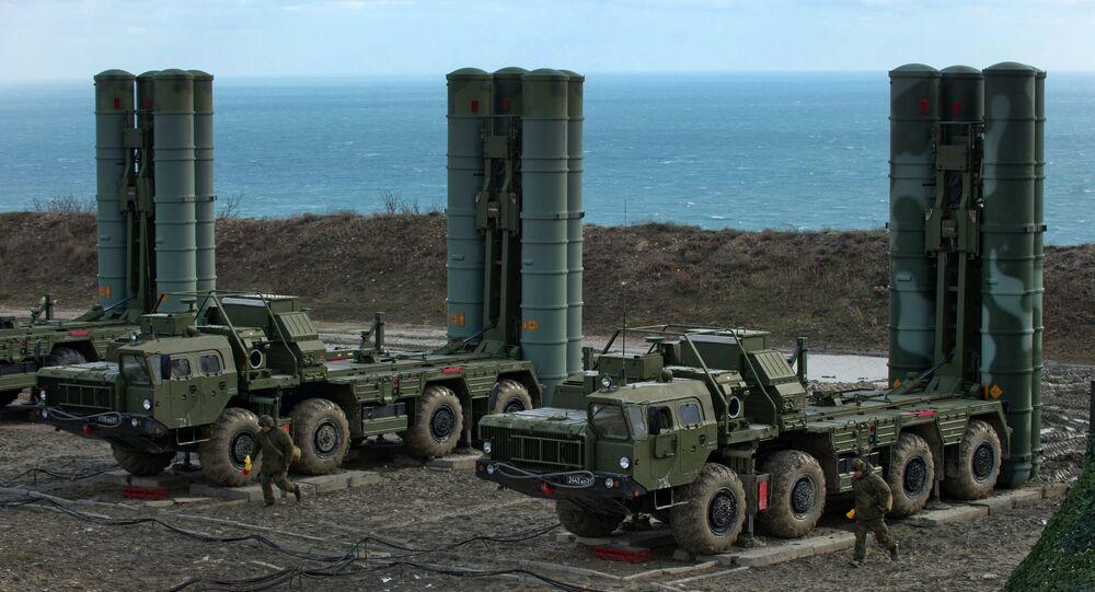Sistemas S-400 rusos (archivo)