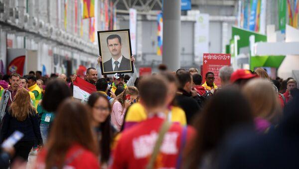 Retrato de Bashar Asad, presidente de Siria - Sputnik Mundo