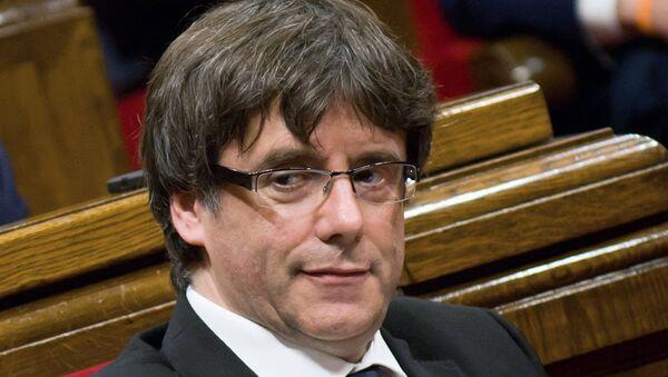 Carles Puigdemont, el expresidente del Gobierno catalán (archivo) - Sputnik Mundo