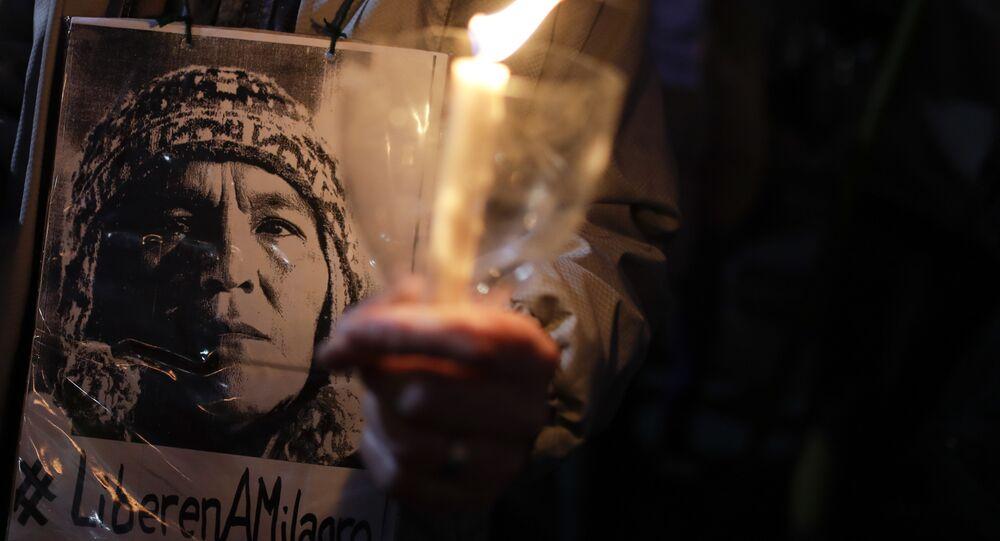 Retrato de Milagro Sala, dirigente social argentina