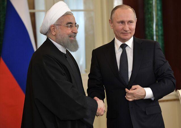 Vladímir Putin y Hasán Rohani, imagen referencial