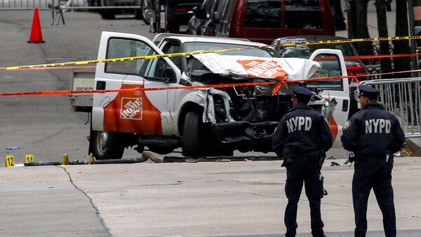 El lugar del atropello en Nueva York - Sputnik Mundo