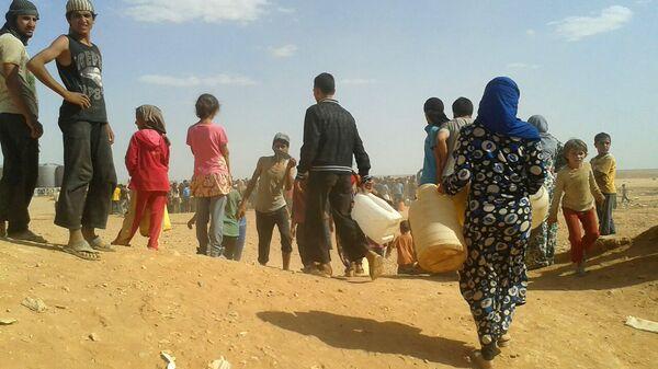 Refugiados sirios en el campo de Rukban (archivo) - Sputnik Mundo