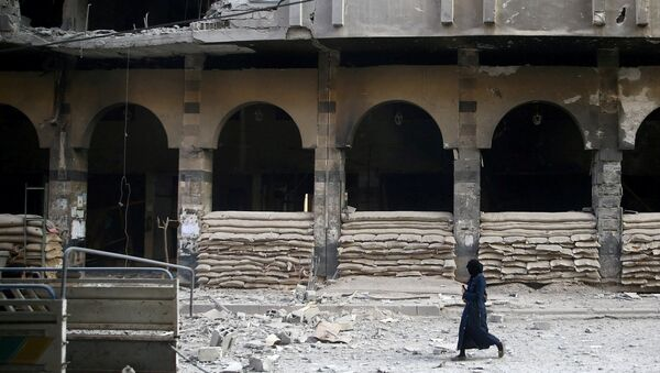 Edificios destruidos en las afueras de Damasco - Sputnik Mundo