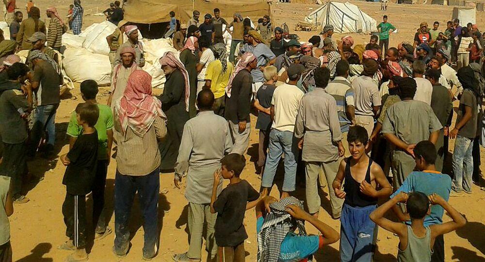 Refugiados en el campo de Rukban (archivo)