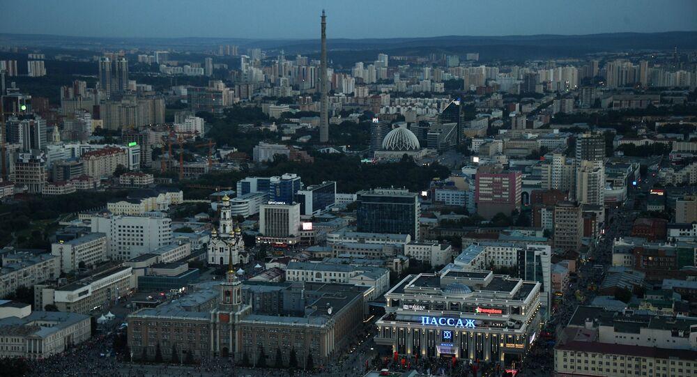 La ciudad de Ekaterimburgo, Rusia