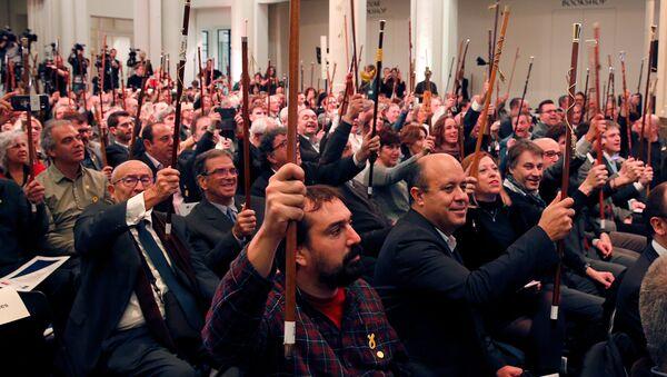 Alcaldes de Cataluña en Bruselas - Sputnik Mundo