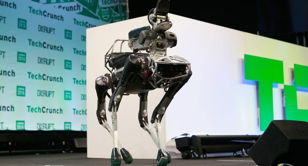 Un robot de cuatro patas de Boston Dynamics parecido a ANYmal