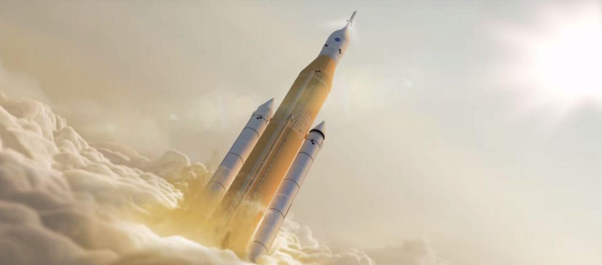 Una animación que representa el lanzamiento del cohete SLS - Sputnik Mundo, 1920, 08.11.2017
