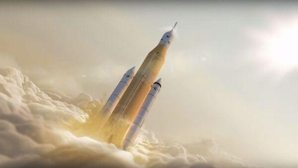 Una animación que representa el lanzamiento del cohete SLS - Sputnik Mundo