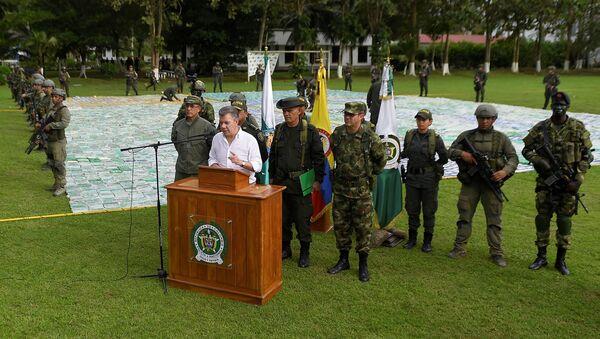 Juan Manuel Santos, presidente de Colombia, en Apartadó - Sputnik Mundo
