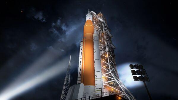La impresión artística del Sistema Espacial de Lanzamiento de la NASA - Sputnik Mundo