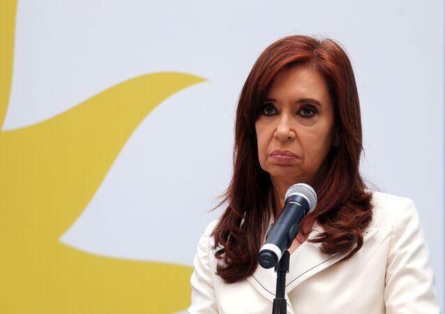 Cristina Fernández de Kirchner, expresidenta de Argentina y la actual senadora