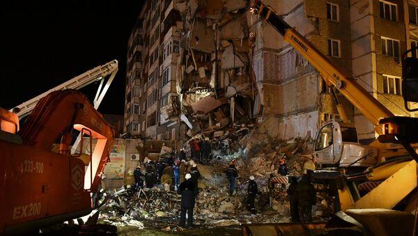 Derrumbe de vivienda en Izhevsk - Sputnik Mundo