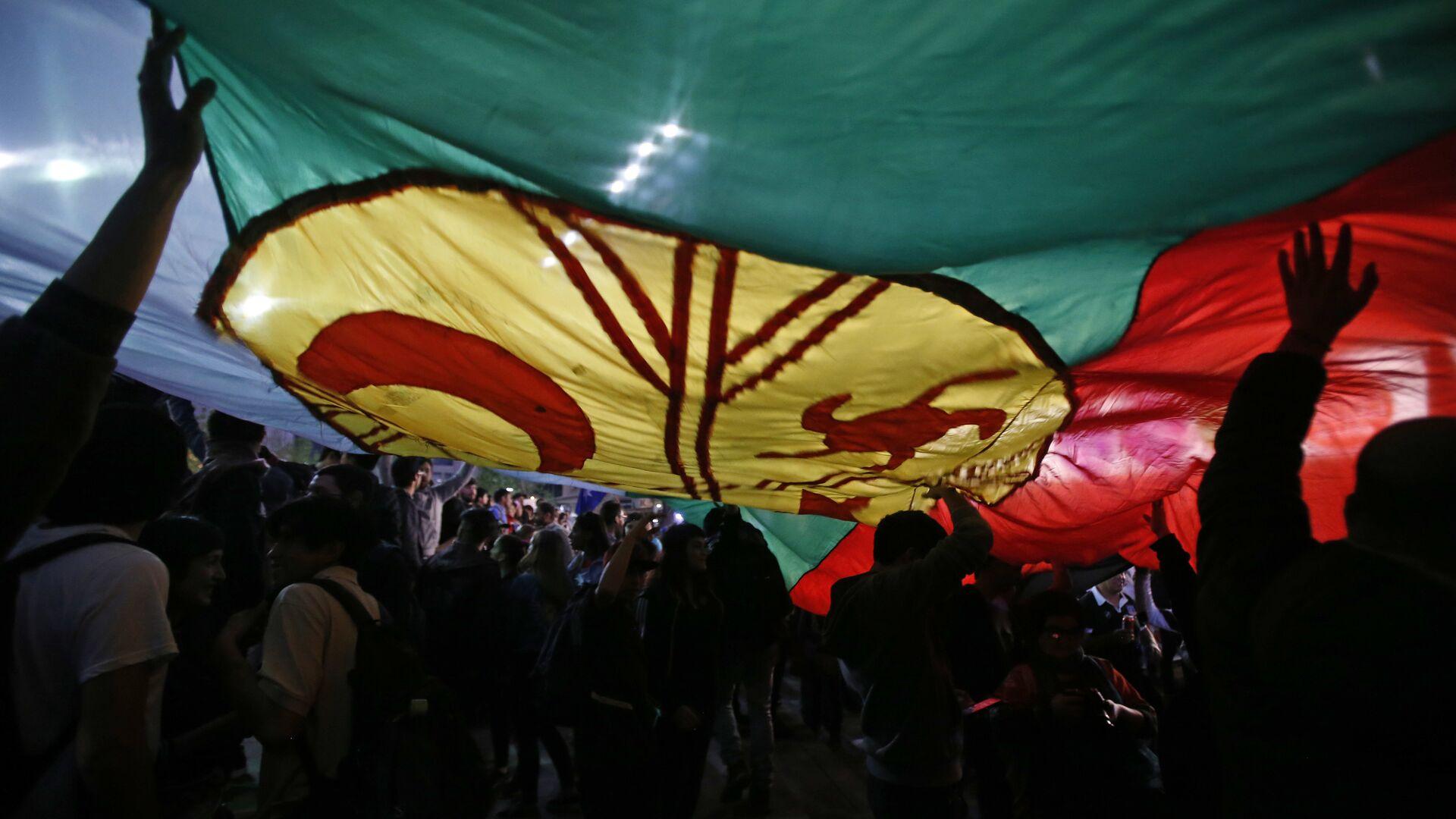 La bandera del pueblo mapuche - Sputnik Mundo, 1920, 04.07.2021