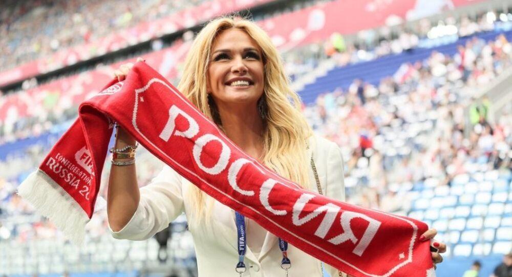 Victoria Lopireva, embajadora de la Copa Mundial de 2018 en Rusia