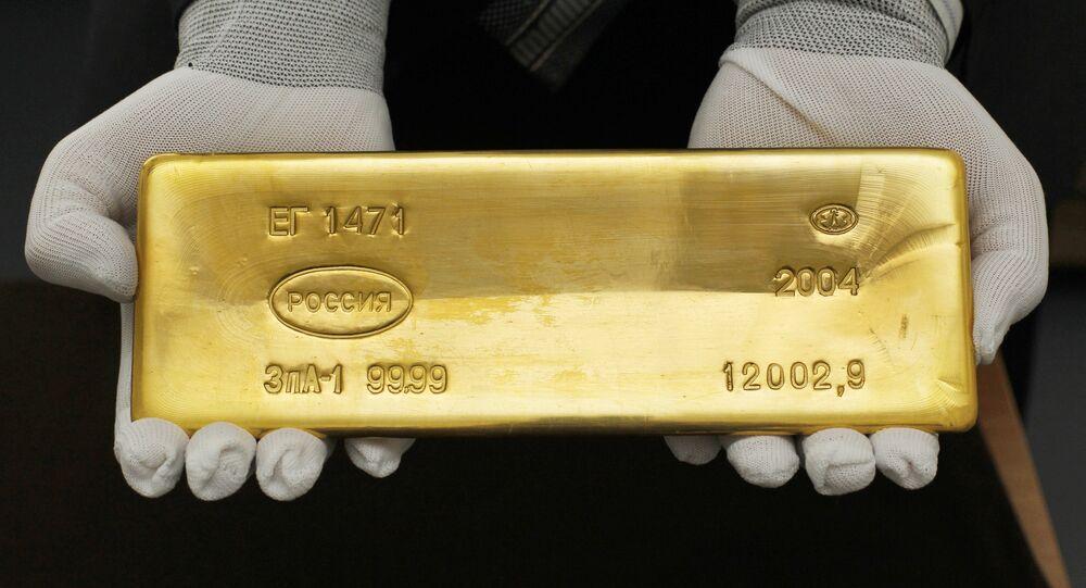 Una barra de oro