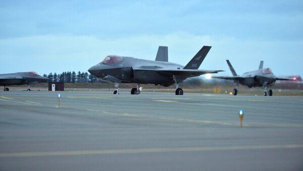 Los F-35 estadounidenses en la base aérea de Orland, en Noruega - Sputnik Mundo