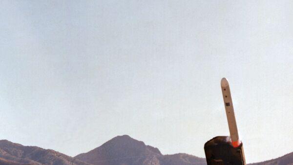 Lanzamiento de misiles estadounidenses BGM-109G Pryphon, 1 de noviembre de 1982 - Sputnik Mundo