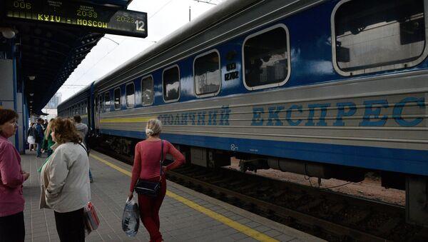 Un tren de la ruta Kiev-Moscú - Sputnik Mundo