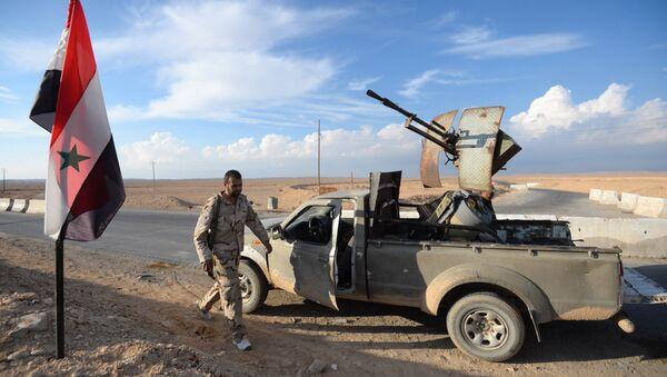 Combatientes del Hizbulá en Siria - Sputnik Mundo