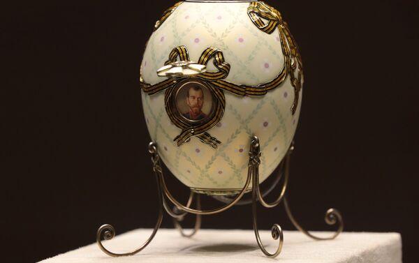 Huevo de la Cruz de San Jorge, el taller de joyería de Fabergé - Sputnik Mundo