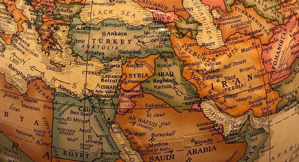 El mundo árabe en el mapa