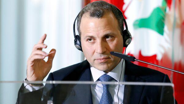 Gebran Bassil, ministro libanés de Exteriores - Sputnik Mundo