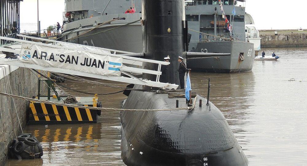 Submarino ARA San Juan en el Apostadero Naval de Buenos Aire (archivo)