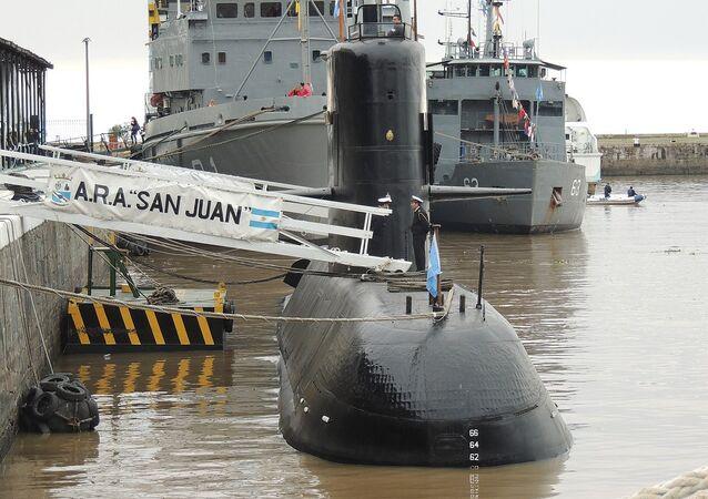 Submarino ARA San Juan en el Apostadero Naval de Buenos Aires (archivo)