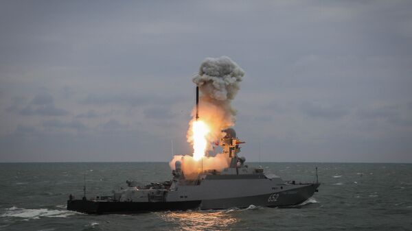 Lanzamiento del misil Kalibr - Sputnik Mundo