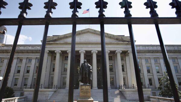 Sede del Departamento del Tesoro de Estados Unidos en Washington - Sputnik Mundo