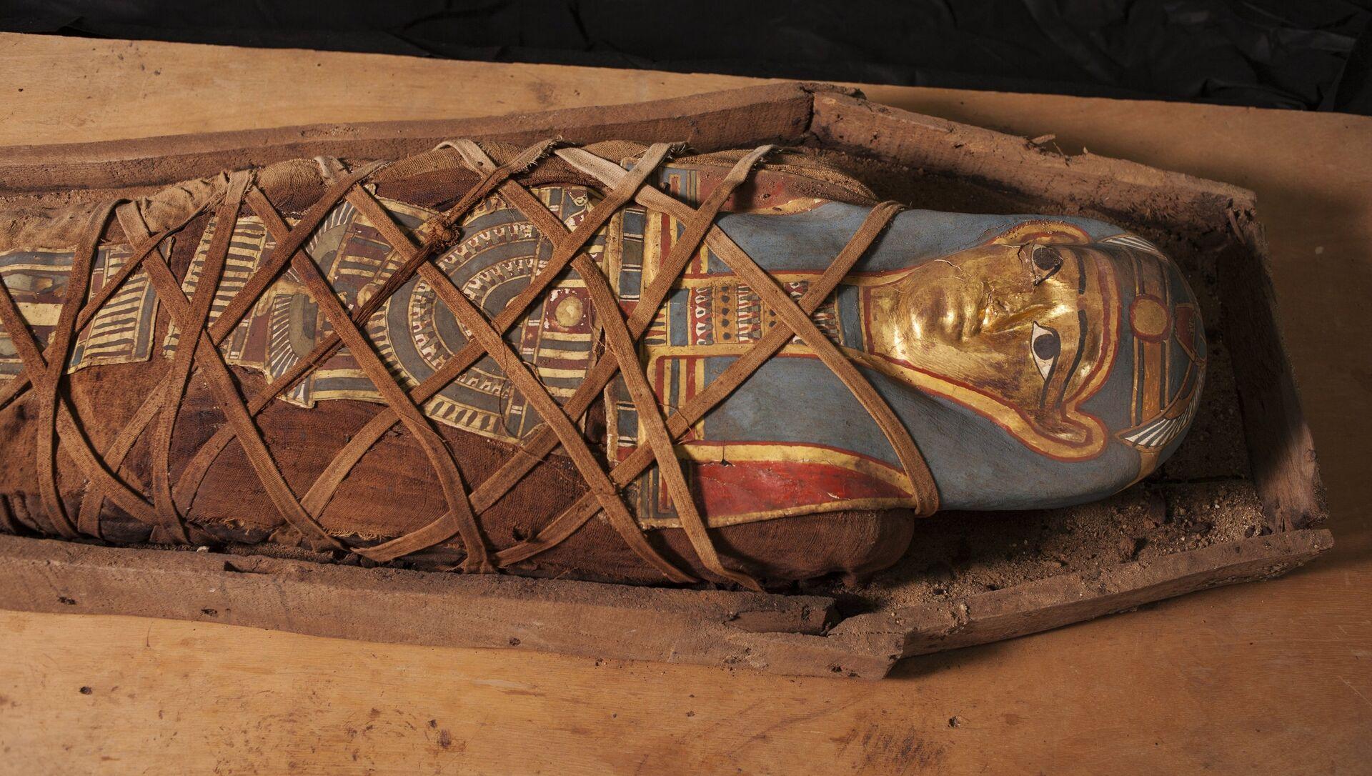 La momia descubierta en el oasis de El Fayum, Egipto - Sputnik Mundo, 1920, 30.11.2020