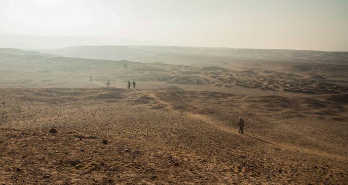 El complejo arqueológico de Deir el Banat, en el oasis de El Fayum, Egipto