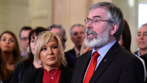 El histórico líder del Sinn Fein, Gerry Adams - Sputnik Mundo