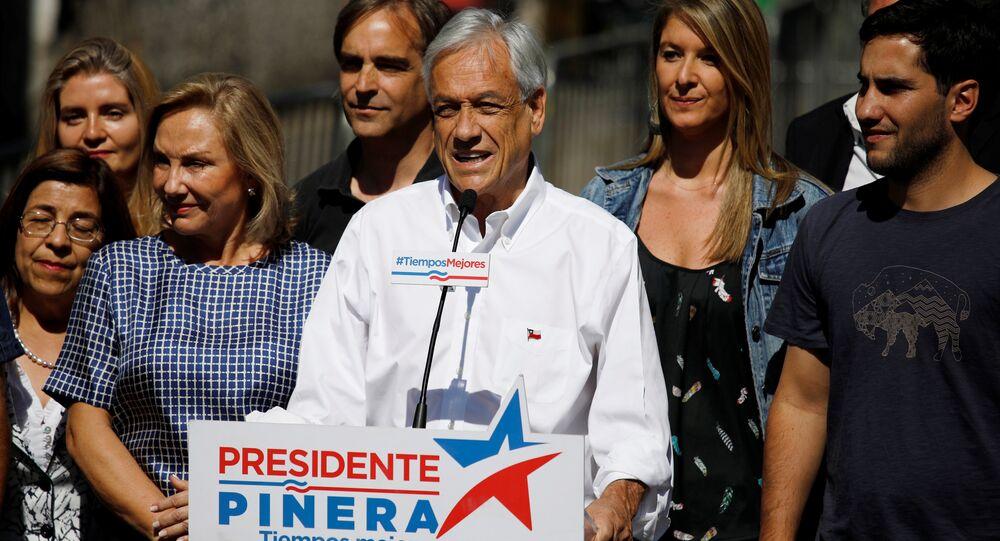 Sebastián Piñera, candidato a la presidencia y exmandatario (2010-2014) chileno