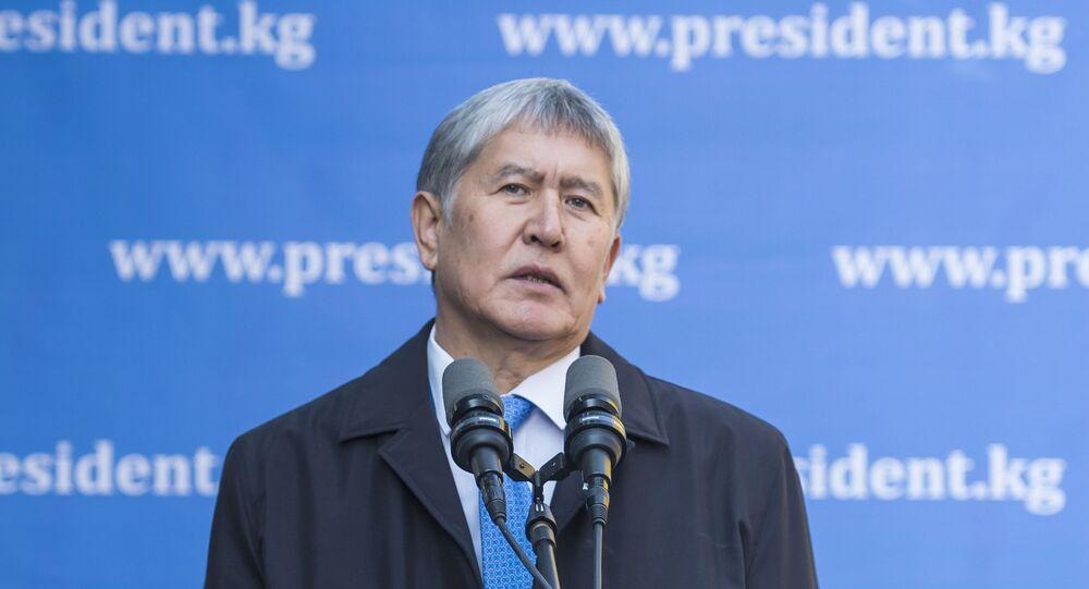 Almazbek Atambáev, presidente saliente de Kirguistán