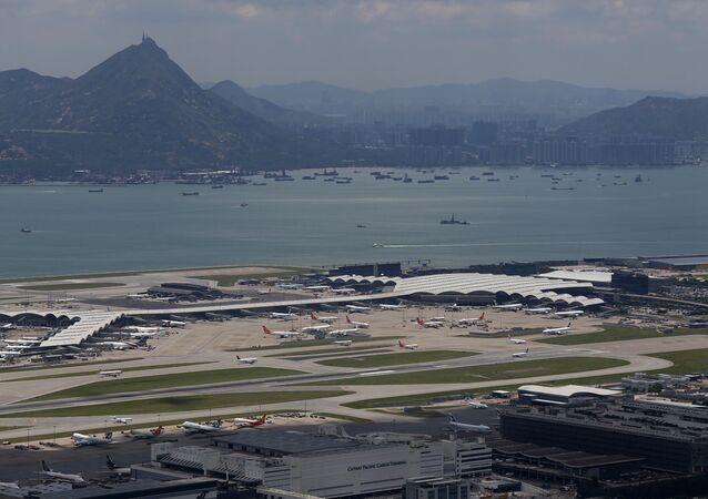 Aeropuerto internacional de Hong Kong (archivo)