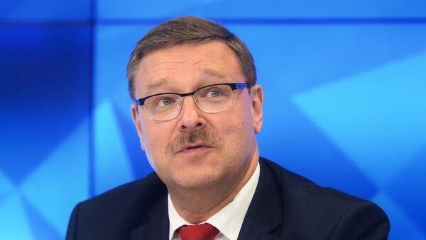 El jefe del Comité de Asuntos Internacionales del Consejo de la Federación, Konstantín Kosachiov - Sputnik Mundo