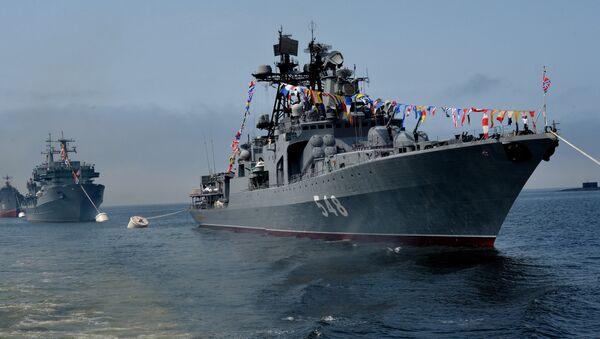 El buque ruso Almirante Panteleev - Sputnik Mundo
