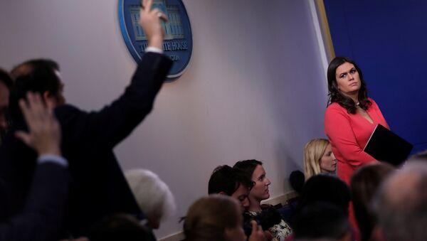 Sarah Huckabee Sanders, secretaria de Prensa de la Casa Blanca - Sputnik Mundo