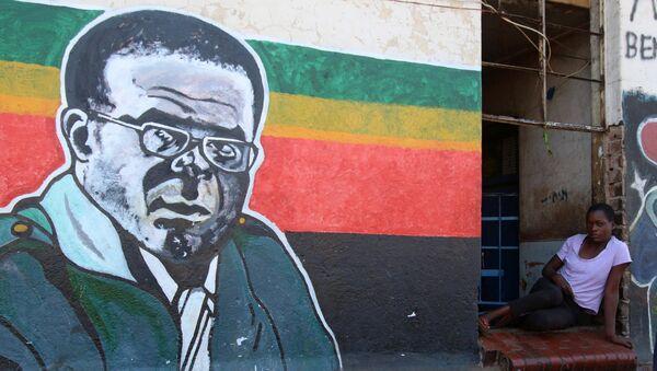 El retrato de Robert Mugabe, el presidente de Zimbabue - Sputnik Mundo