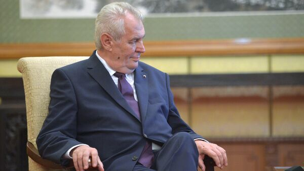 Milos Zeman, presidente de la República Checa - Sputnik Mundo